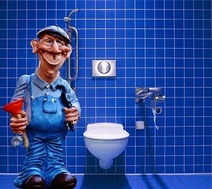 loodgieter in badkamer