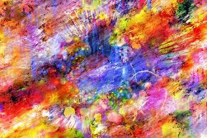 schilderij vol kleuren